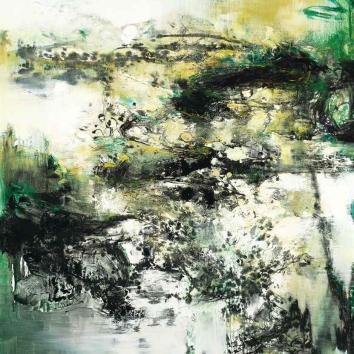Misty Field in the Green Rain